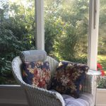 chair in screen porch