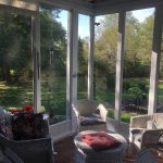 Inside of 3-season screened porch