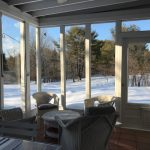 3 season porch in winter snow