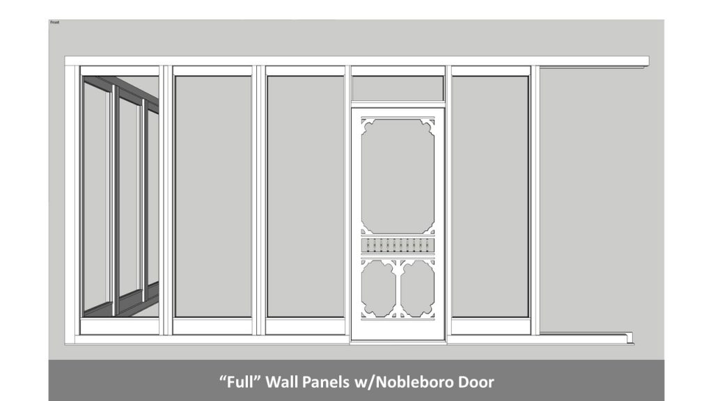 """Full"" Wall Panels w/Nobleboro Door"