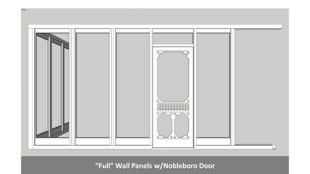 """""""Full"""" Wall Panels w/Nobleboro Door"""