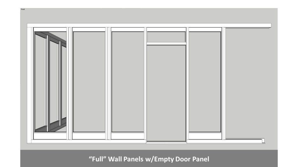 """""""Full"""" Wall Panels w/Empty Door Panel"""