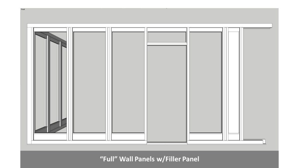 """""""Full"""" Wall Panels w/Filler Panel"""