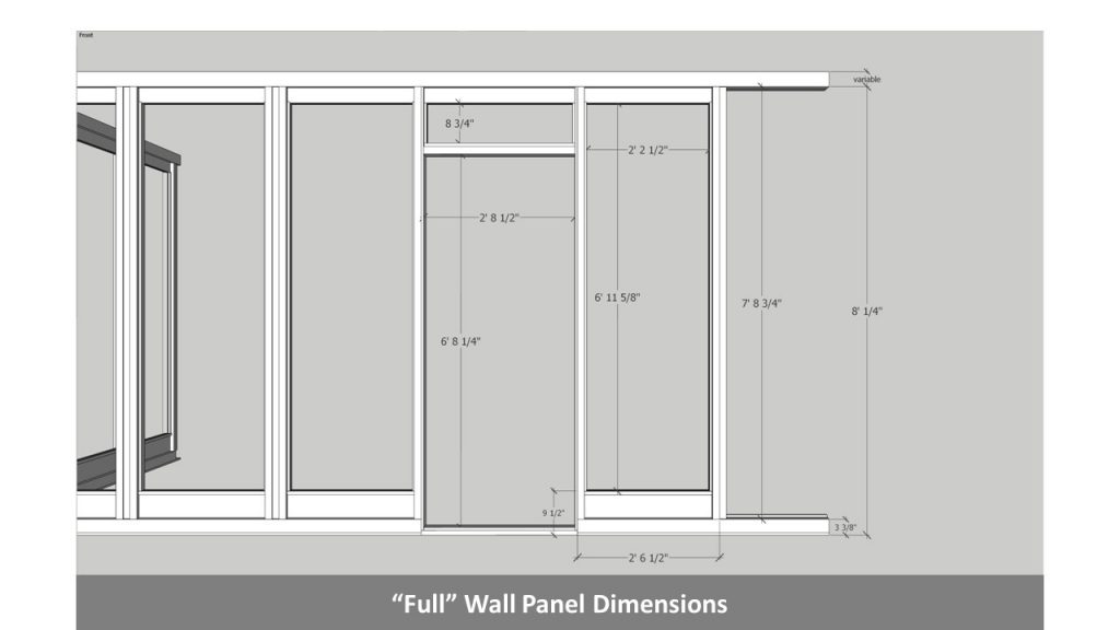 """Full"" Wall Panel Dimensions"