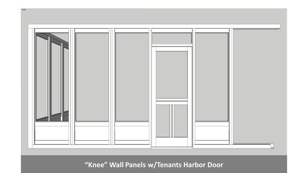 """Knee"" Wall Panels w/Tenants Harbor Door"