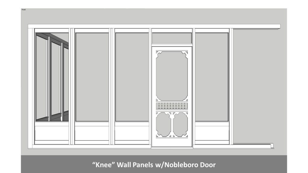 """Knee"" Wall Panels w/Nobleboro Door"