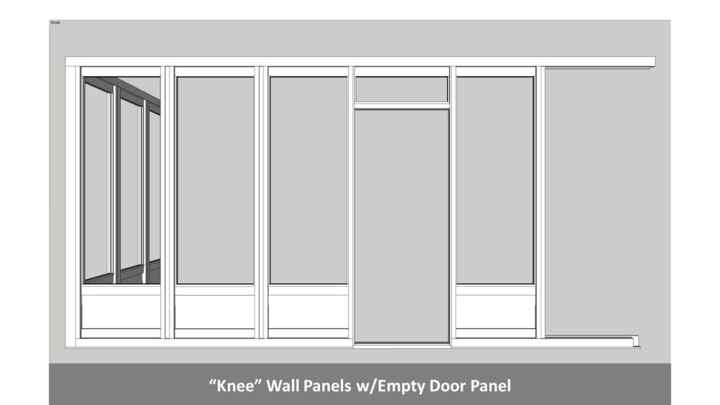 """Knee"" Wall Panels w/Empty Door Panel"