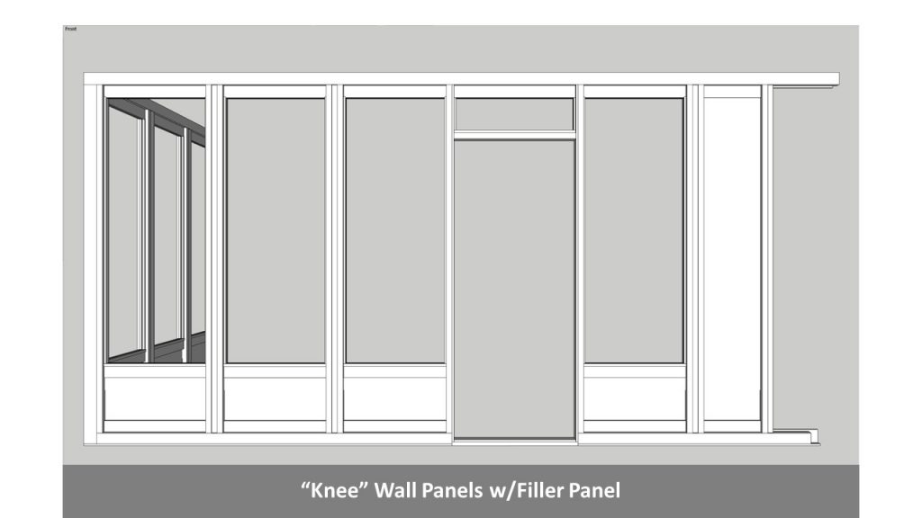 """Knee"" Wall Panels w/Filler Panel"