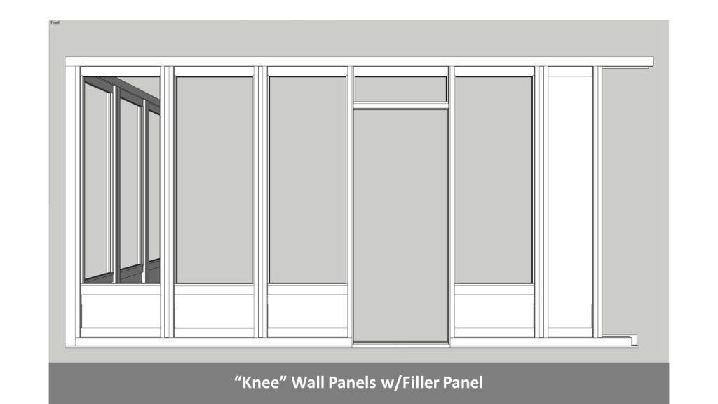 """Knee"" Wall Panels w/Filler Panel"
