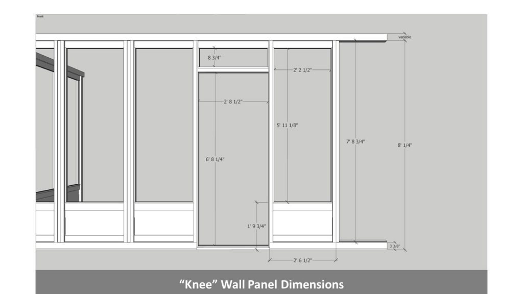 """Knee"" Wall Panel Dimensions"