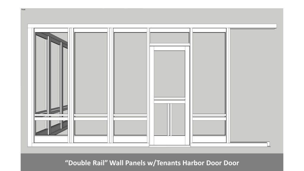 """Double Rail"" Wall Panels w/Tenants Harbor Door Door"