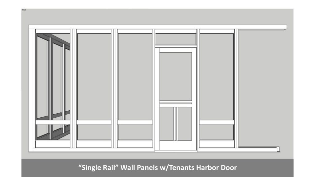 """Single Rail"" Wall Panels w/Tenants Harbor Door"