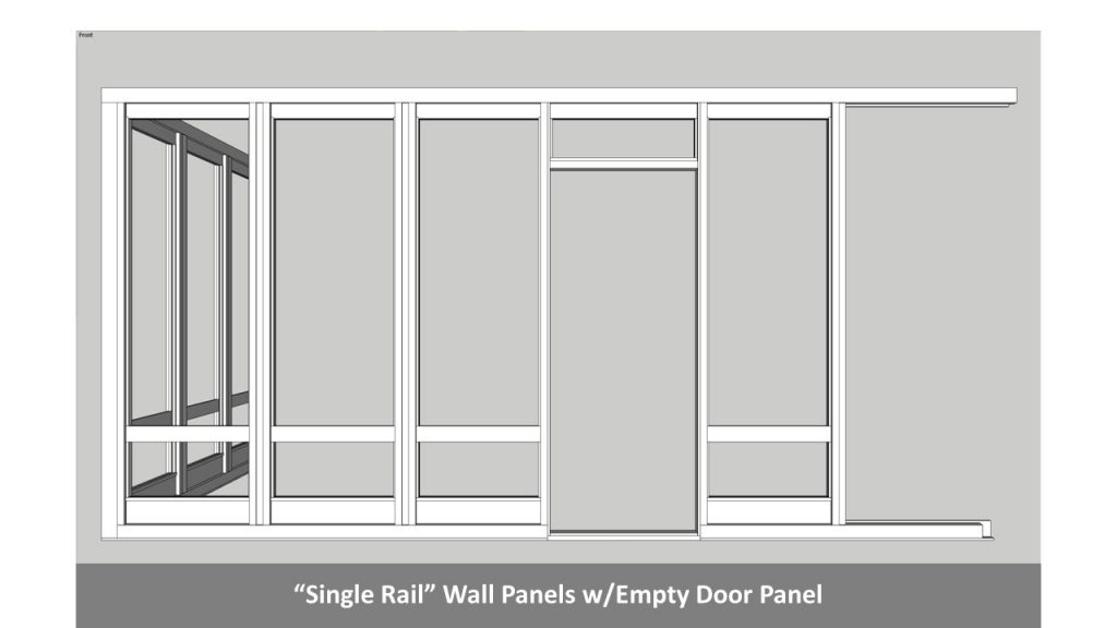 """Single Rail"" Wall Panels w/Empty Door Panel"