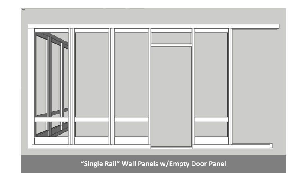 """Single Rail"" Wall Panels w/Empty Door Panel"