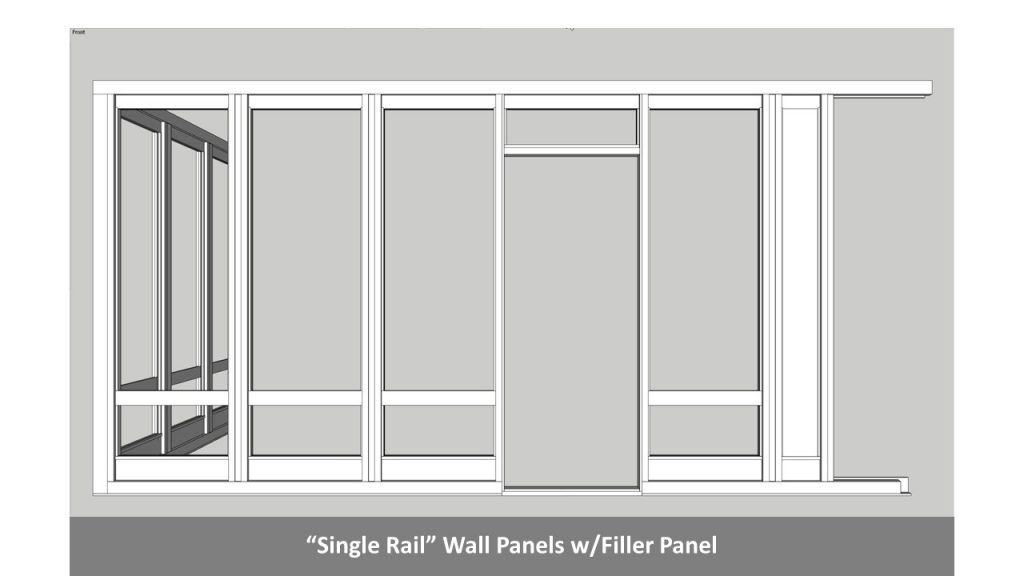 """Single Rail"" Wall Panels w/Filler Panel"