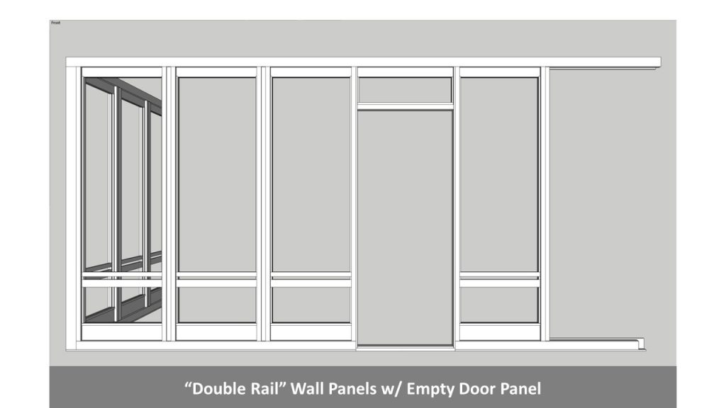 """Double Rail"" Wall Panels w/ Empty Door Panel"