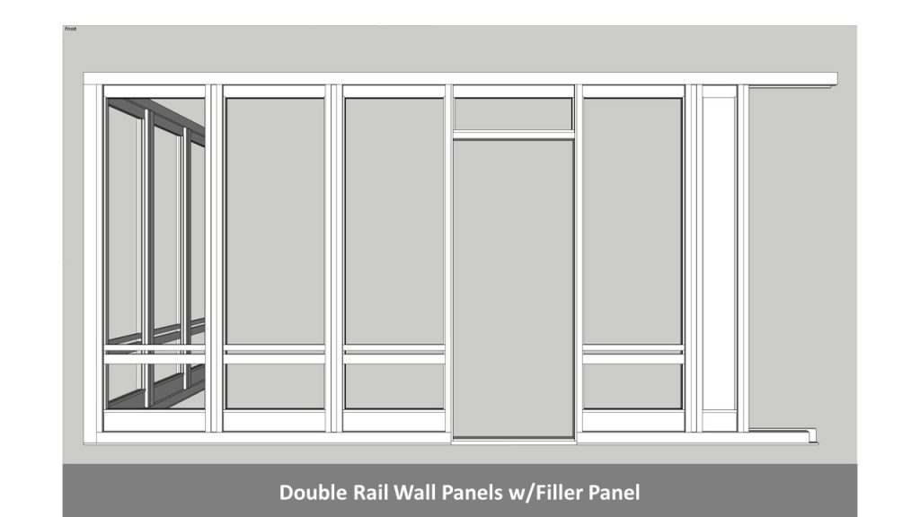 Double Rail Wall Panels w/Filler Panel