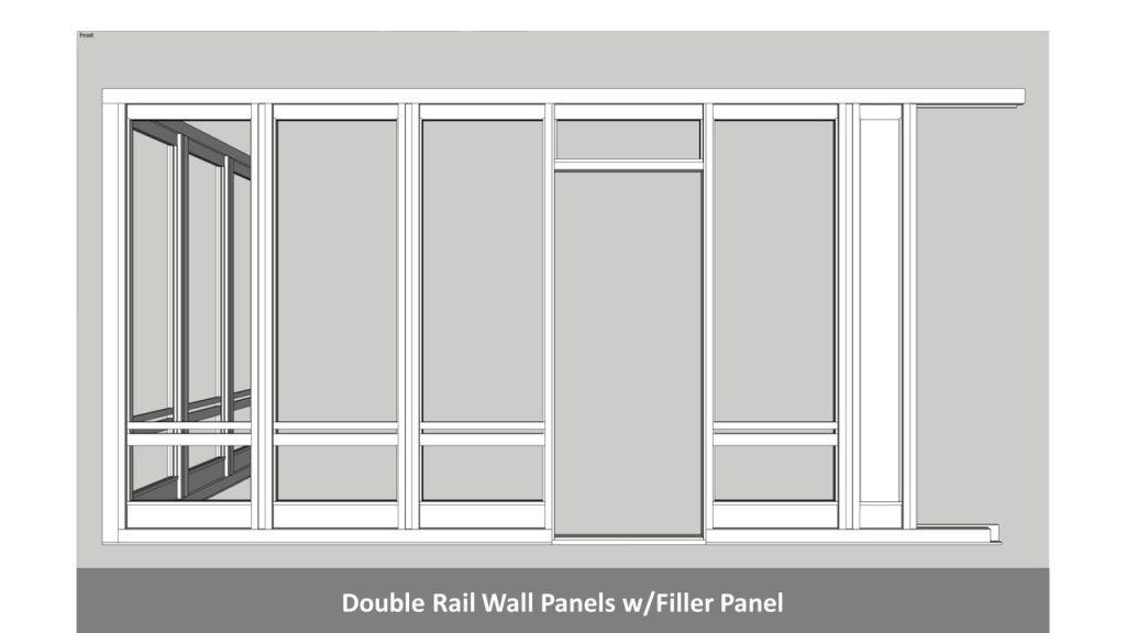 Double Rail Wall Panels w/Filler Panel