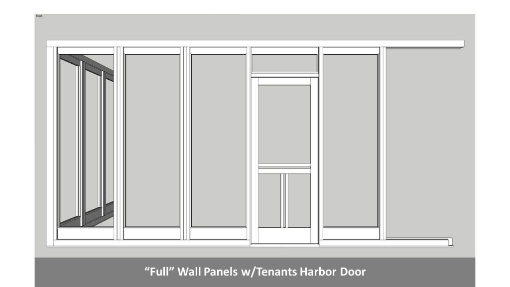 """Full"" Wall Panels w/Tenants Harbor Door"