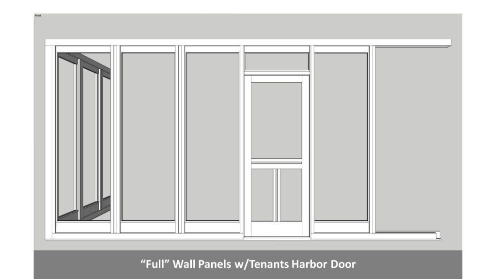 """""""Full"""" Wall Panels w/Tenants Harbor Door"""