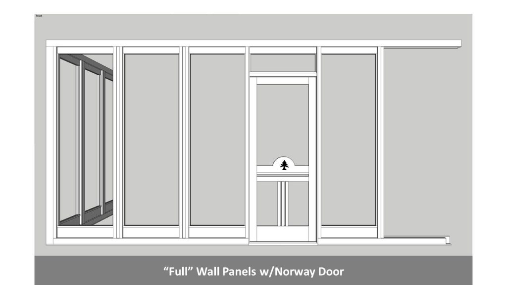 """Full"" Wall Panels w/Norway Door"