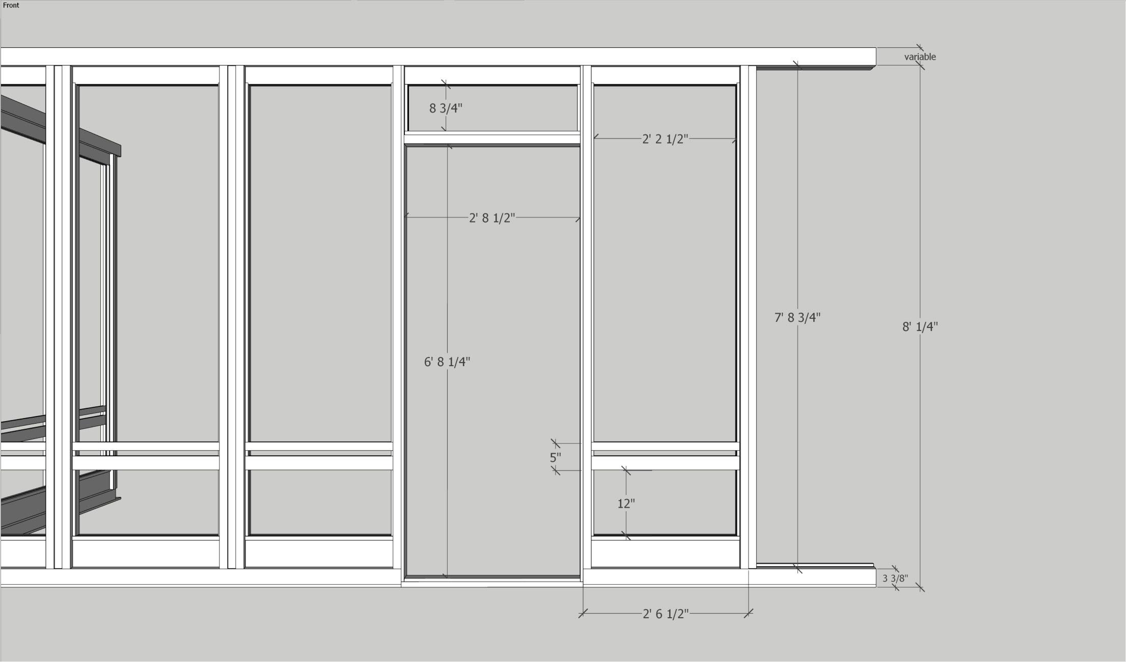 Porch enclosure kit